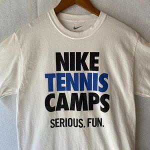 Nike Tennis Just Do It Tshirt White Size Medium